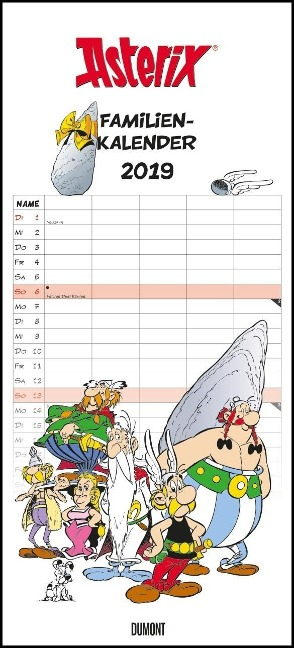 Asterix Familienplaner 2019 -