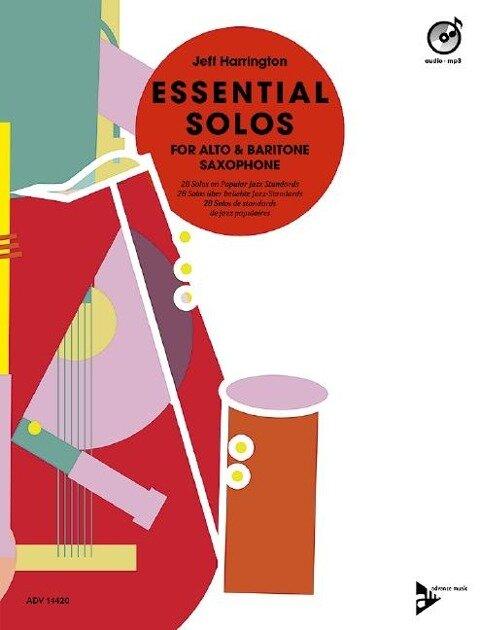 Essential Solos for Alto & Baritone Saxophone. Ausgabe mit CD - Jeff Harrington
