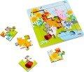 Holzrahmen-Puzzle Tierfreunde 9 Teile -