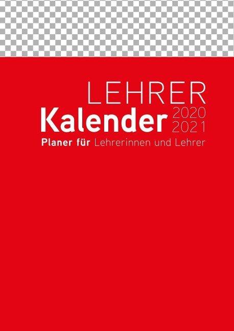 Lehrerkalender 2020/2021 Umschlagfarbe: rot -