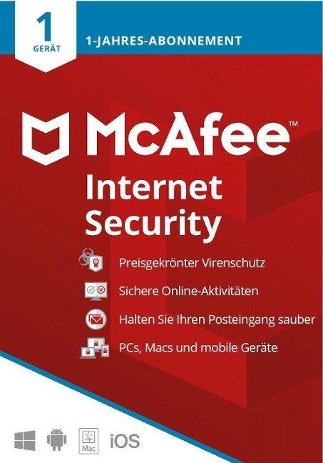 McAfee Internet Security 1 Gerät 2021 (Code in a Box). Für Windows/MAC/Android/iOs -