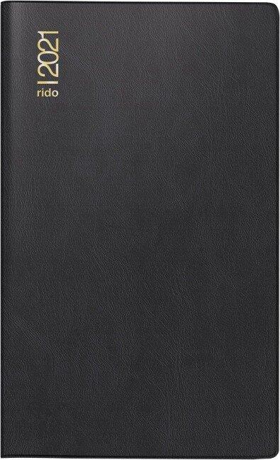 rido/idé 7046962901 Monatskalender/Taschenkalender 2021 Modell M-Planer,Kunststoff-Einband schwarz -