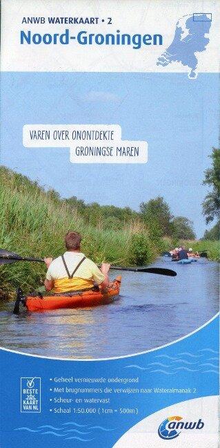 Noord-Groningen 1:50 000 Waterkaart -