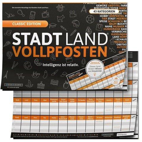 """STADT LAND VOLLPFOSTEN® - CLASSIC EDITION - """"Intelligenz ist relativ"""" - Ricardo Barreto, Denis Görz"""