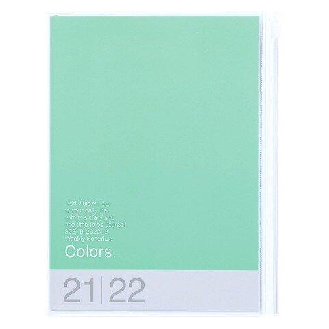 MARK'S 2021/2022 Taschenkalender A5 vertikal, COLORS // Mint -