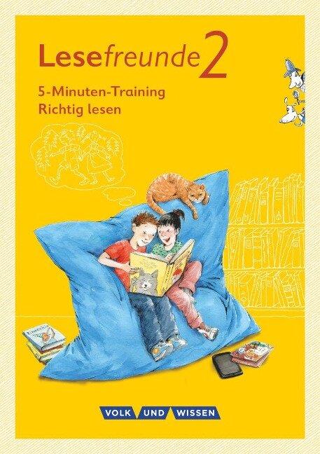 """Lesefreunde 2. Schuljahr. 5-Minuten-Training """"Richtig lesen"""". Arbeitsheft. Östliche Bundesländer und Berlin - Irene Hoppe"""