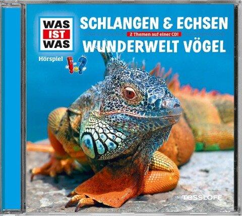 Was ist was Hörspiel-CD: Schlangen & Echsen/ Vögel - Manfred Baur