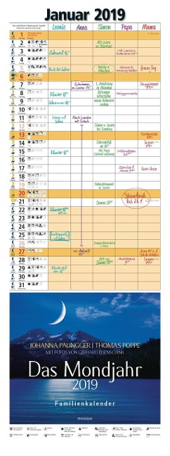 Das Mondjahr 2019 Familienkalender - Johanna Paungger, Thomas Poppe