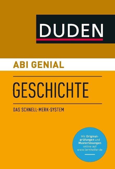 Abi genial Geschichte - Krista Düppengießer, Joachim Charles McGready