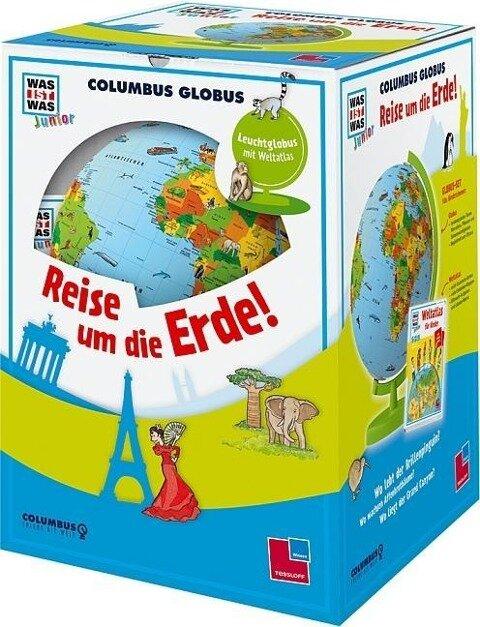 """WAS IST WAS Junior Columbus Globus """"Reise um die Erde!"""""""