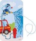 Fädelspiel Feuerwehr-Einsatz -