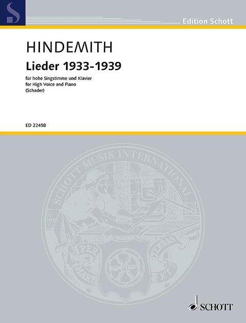 Lieder 1933-1939 - Paul Hindemith