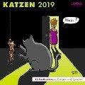 Katzen - Postkartenkalender 2019 -