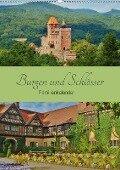 Burgen und Schlösser - Familienkalender (Wandkalender 2017 DIN A2 hoch) - Andrea Janke