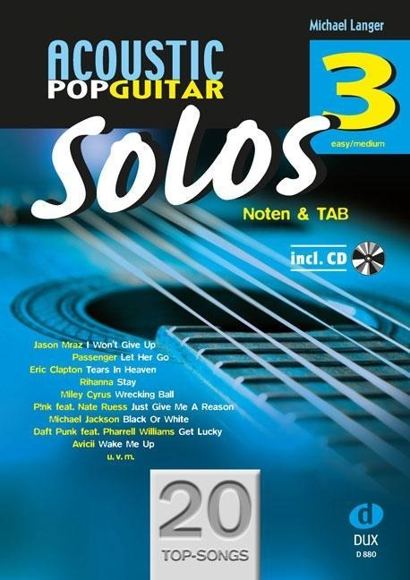 Acoustic Pop Guitar Solos 3 - Michael Langer