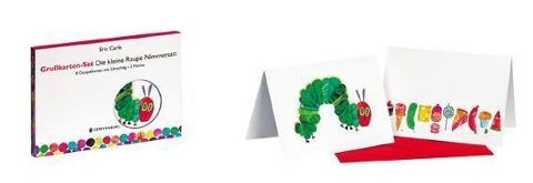 Grußkarten-Set Die kleine Raupe Nimmersatt - Eric Carle