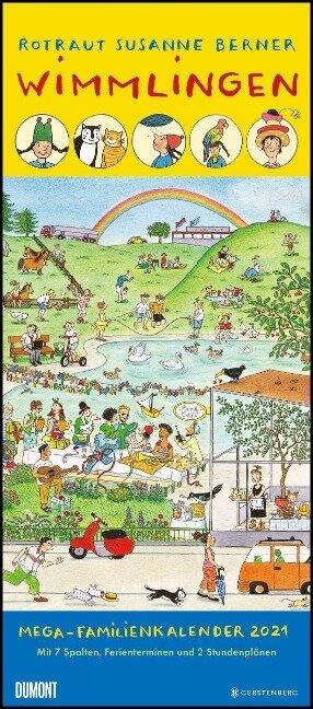 Wimmlingen 2021 - DUMONT Mega-Familienkalender mit 7 Spalten -
