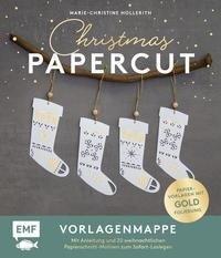 Set: Christmas Papercut - Die Vorlagenmappe mit Anleitung und 20 weihnachtlichen Papierschnitt-Motiven zum Sofort-Loslegen - Marie-Christine Hollerith