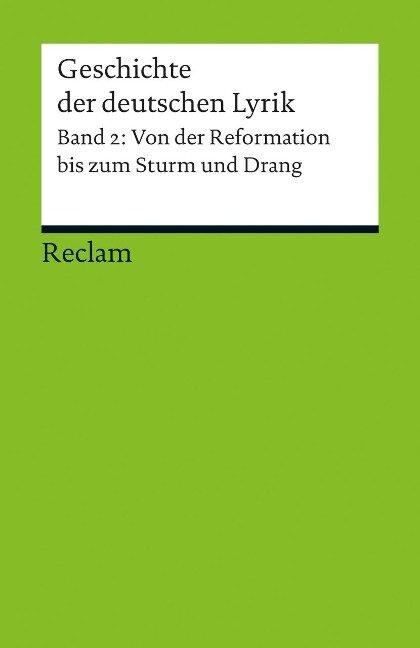 Geschichte der deutschen Lyrik Band 2 - Hans-Georg Kemper