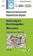 DAV Alpenvereinskarte Bayerische Alpen 21. Nationalpark Berchtesgaden, Watzmann 1 : 25 000 -