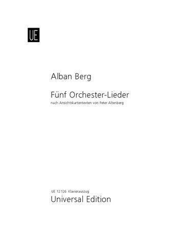 5 Orchesterlieder - Alban Berg