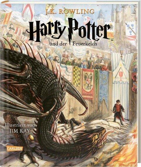 Harry Potter und der Feuerkelch (farbig illustrierte Schmuckausgabe) (Harry Potter 4) - J. K. Rowling