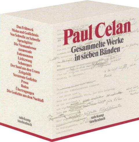 Gesammelte Werke in sieben Bänden - Paul Celan