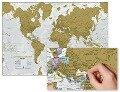 Die Welt zum Rubbeln. Scratch Map Deutsch -