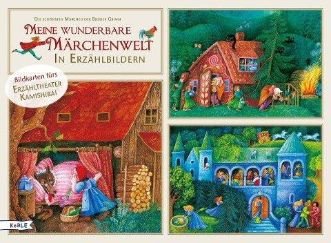 Meine wunderbare Märchenwelt in Erzählbildern. Bildkarten fürs Erzähltheater Kamishibai - Jacob Grimm, Wilhelm Grimm