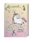 Einhorn Schülerkalender A6 - Kalender 2019 -