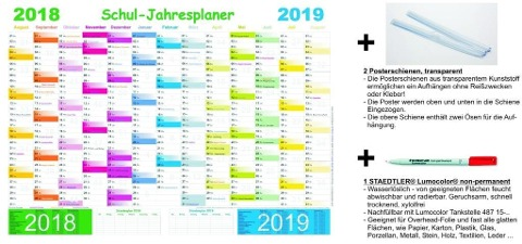 Schuljahresplaner - Set 2018/2019 -