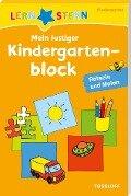 Lernstern: Mein lustiger Kindergartenblock. Rätseln und Malen ab 3 Jahren -