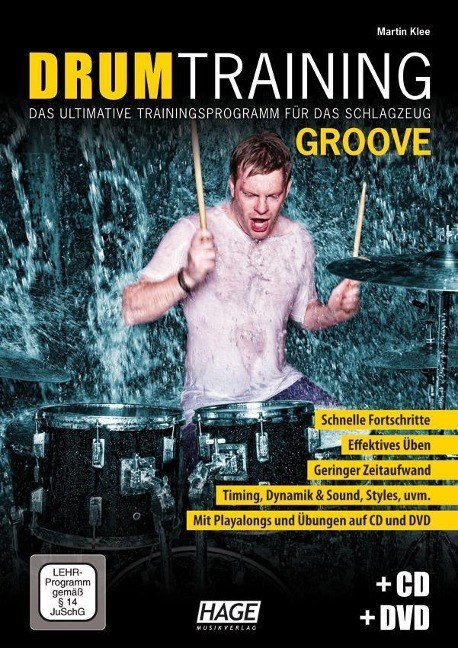 Drum Training Groove + CD + DVD - Martin Klee