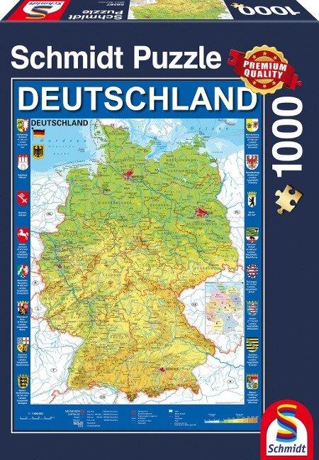 Deutschlandkarte, 1.000 Teile Puzzle -