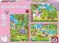 Prinzessin im Schlossgarten. 3 x 48 Teile Puzzle -