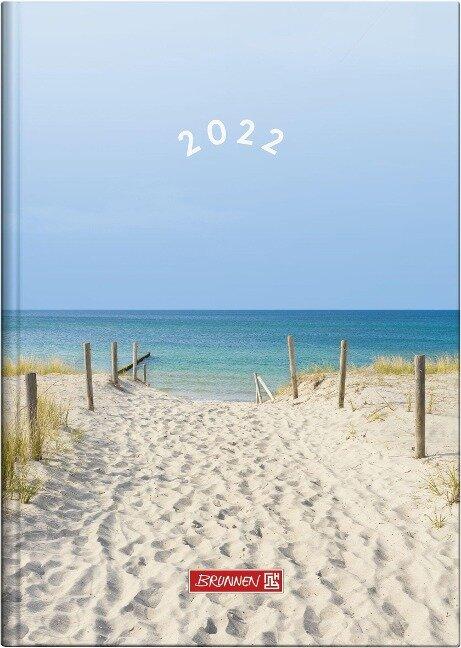 "BRUNNEN 1079515031 Tageskalender/Buchkalender 2022 Modell 795 ""Strand"" -"