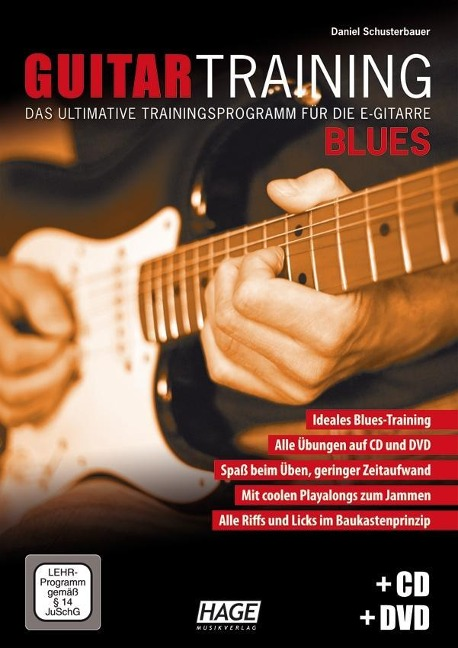 Guitar Training Blues + CD + DVD - Daniel Schusterbauer