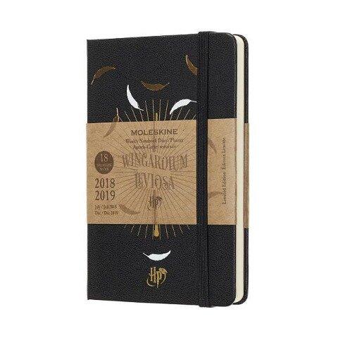 Moleskine Wochen Notizkalender, Harry Potter, 18 Monate, 2018/2019, Pocket/A6, Hard Cover, Schwarz - Moleskine