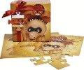 Puzzle Geschenk-Box Super Dino Rot 25x25cm -