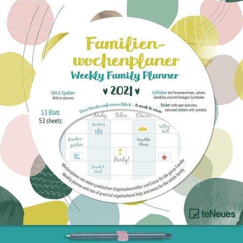 Familien Wochenplaner Dots 2021 -