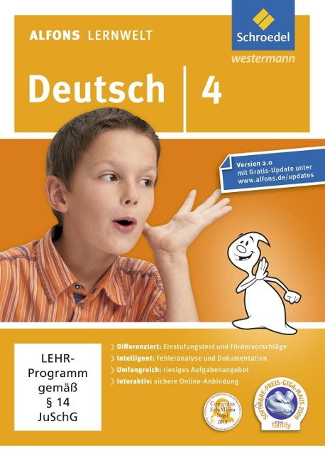 Alfons Lernwelt Lernsoftware Deutsch 4. DVR-ROM -