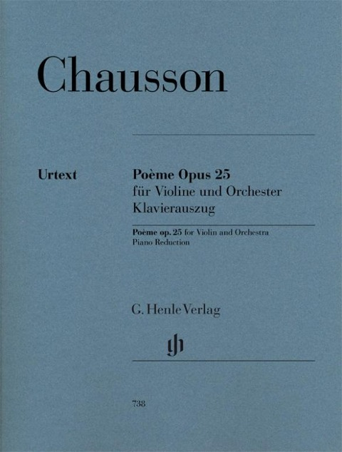 Poème Opus 25 für Violine und Orchester - Ernest Chausson