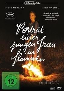 Porträt einer jungen Frau in Flammen -