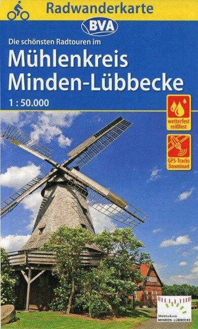 Radwanderkarte BVA Radwandern im Mühlenkreis Minden-Lübbecke 1:50.000
