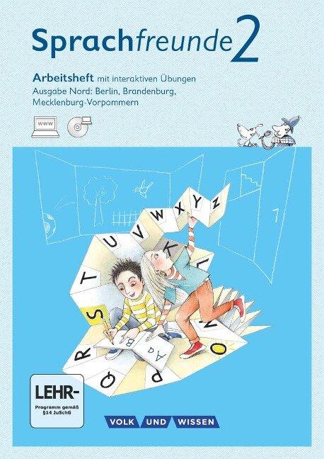 Sprachfreunde Ausgabe Nord 2. Schuljahr. Arbeitsheft mit interaktiven Übungen auf scook.de - Susanne Kelch, Andrea Knöfler