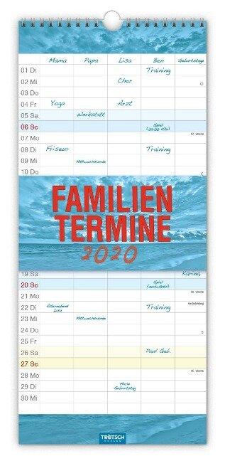 "Familienkalender ""Farben"" 2020 -"