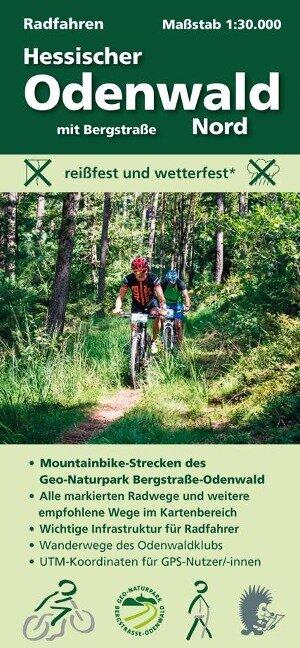 Radfahren, Hessischer Odenwald Nord mit Bergstraße 1 : 30 000