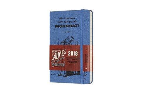 "Moleskine 12 Monate ""Alice im Wunderland"" Wochen Notizkalender 2018, A6 Hard Cover, Blau -"