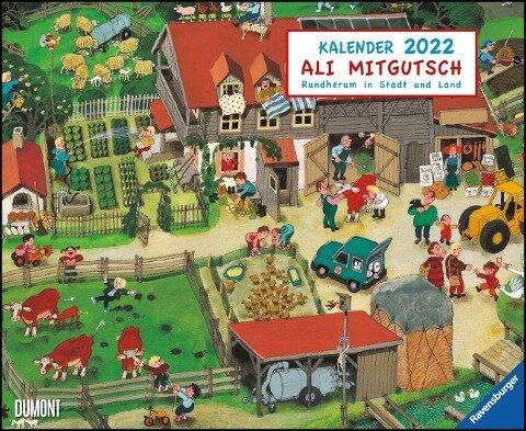 Ali Mitgutsch 2022 - Wimmelbilder - DUMONT Kinder-Kalender - Querformat 52 x 42,5 cm - Spiralbindung -