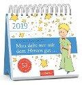 Man sieht nur mit dem Herzen gut 2019 Postkartenkalender - Antoine de Saint-Exupéry
